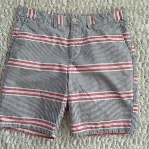 😍Red & Gray Striped Shorts